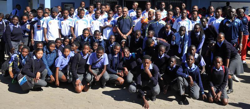 Football - 2016 Cosafa Cup - CSI School Visit - Katutura