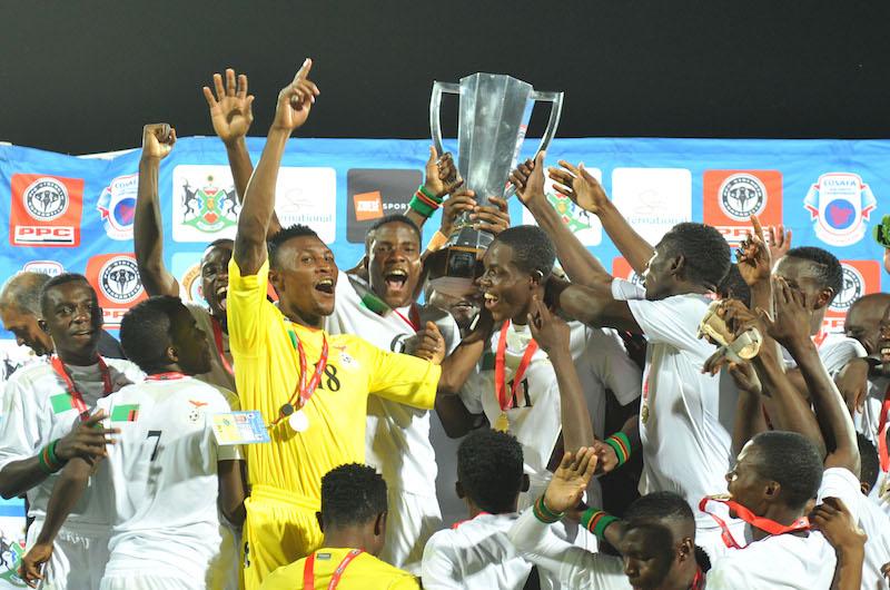 Football - Championnat de 2016 des jeunes Cosafa U20 - Finale - Afrique du Sud v Zambie - Moruleng Stadium