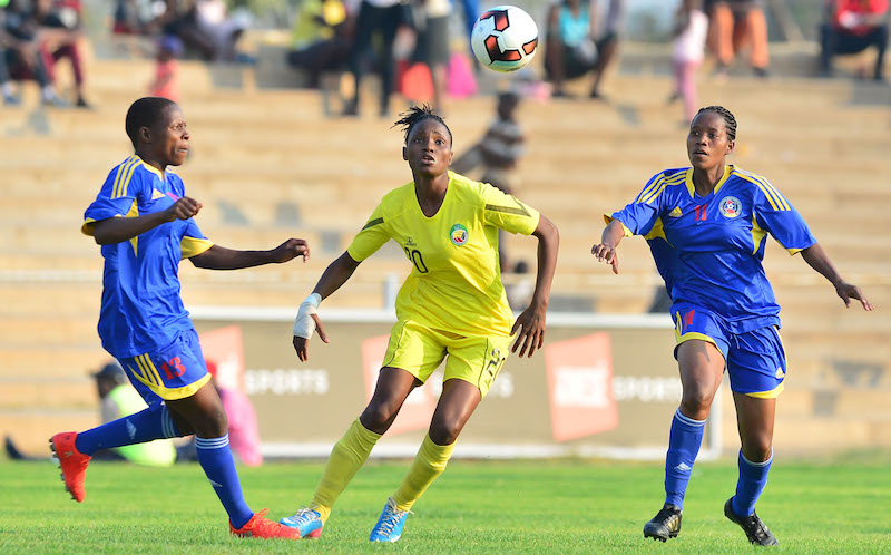 Football - 2017 COSAFA Women's Championship - Mozambique v Swaziland - Luveve Stadium - Bulawayo