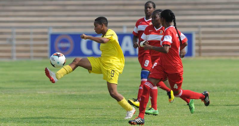 Football - 2017 COSAFA Women's Championship - Mauritius v Mozambique - Luveve Stadium – Bulawayo