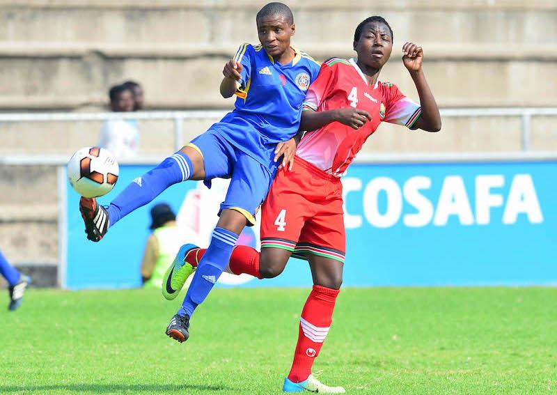 Football - 2017 COSAFA Women's Championship - Kenya v Swaziland - Barbourfields Stadium - Bulawayo
